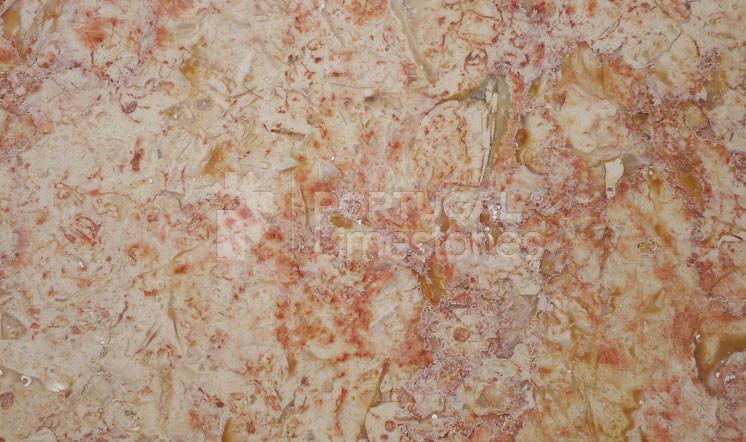 Lioz Vermelho limestone polished