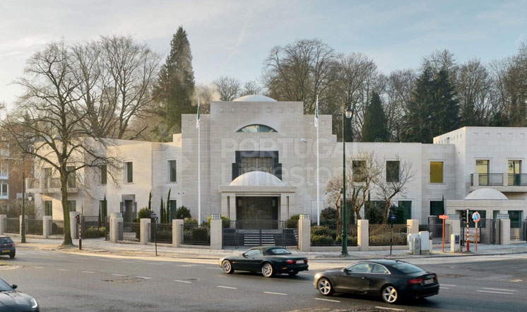 Qatar embassy - Moca Cream limestone